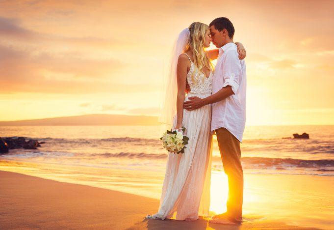 Bryllup på stranden